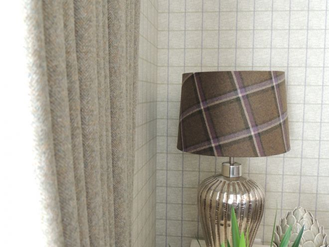 matching fabric covered lamps