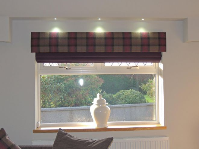 Tartan Curtains for Lounge Extension