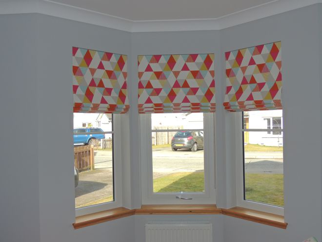 Bay Window Fabric Blinds
