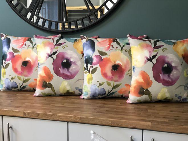 Beautiful floral fresh cushions