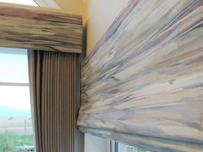 Handmade roman blinds