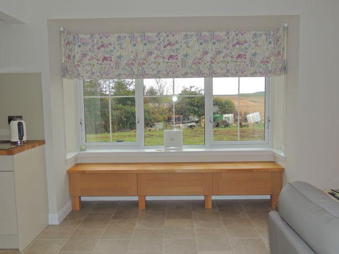 floral print roman blinds