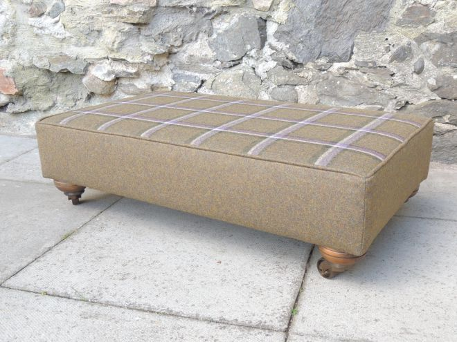 hand-covered Footstool
