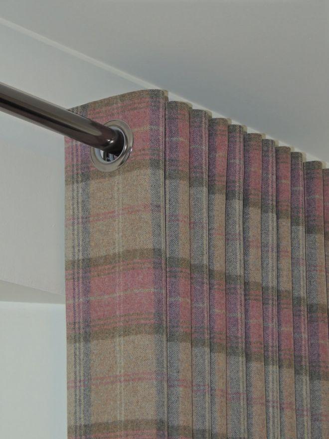Eyelet Bespoke tartan curtains