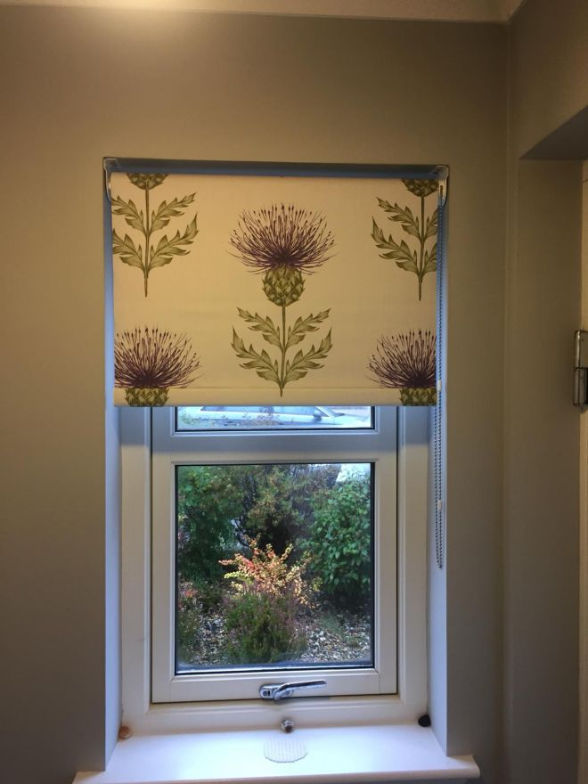 Thistle Roman blinds