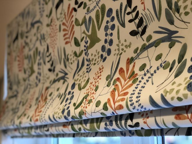 Beautiful Floral fabric roman blind