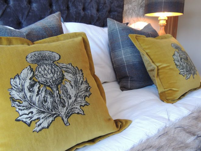 Fabric covered cushions