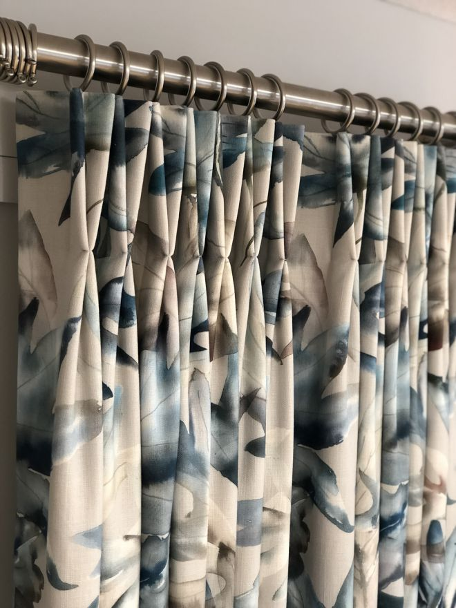 Pleated top curtains