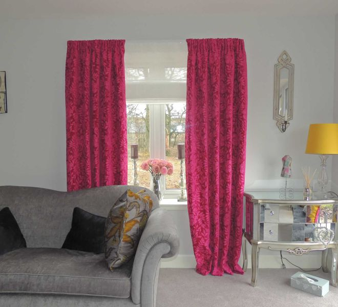 Sheer Roman Blinds with Dress Curtains to soften the room