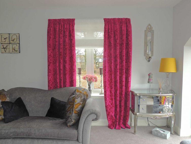 Lounge Curtains and Roman Blinds – Mrs Horn